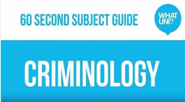 Criminology what subject to study at university